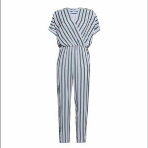 Like New Maje Pando striped twill jumpsuit